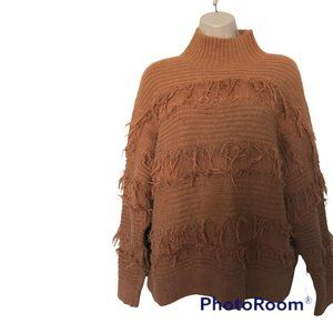 New Blue B collection fringes turtle neck sweater womens sz S/M